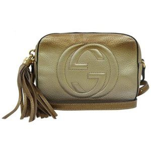Gucci Soho Disco Gradient Champagne Calfskin Bag